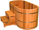 Ofuro Japanese Soaking Hot Tub 2 Person Wooden Tub EBay