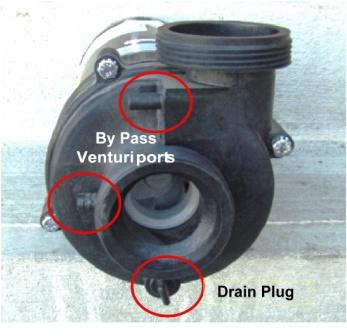 1.5 HP 2-Speed Spa Pump 230 volts