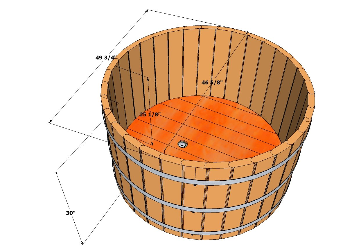 Ofuro tubs specifications wooden ofuros for Soaking bathtub sizes