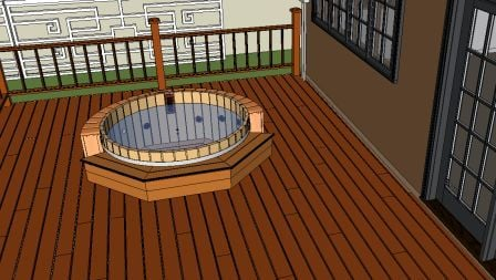 hot tub in deck design