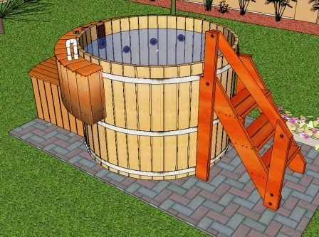 Hot tub designs tubs in decks for Hot tub designs and layouts