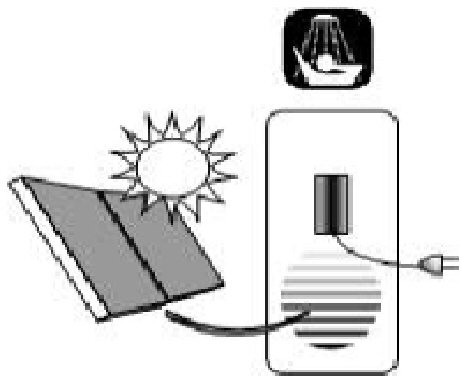 electric solar water tank