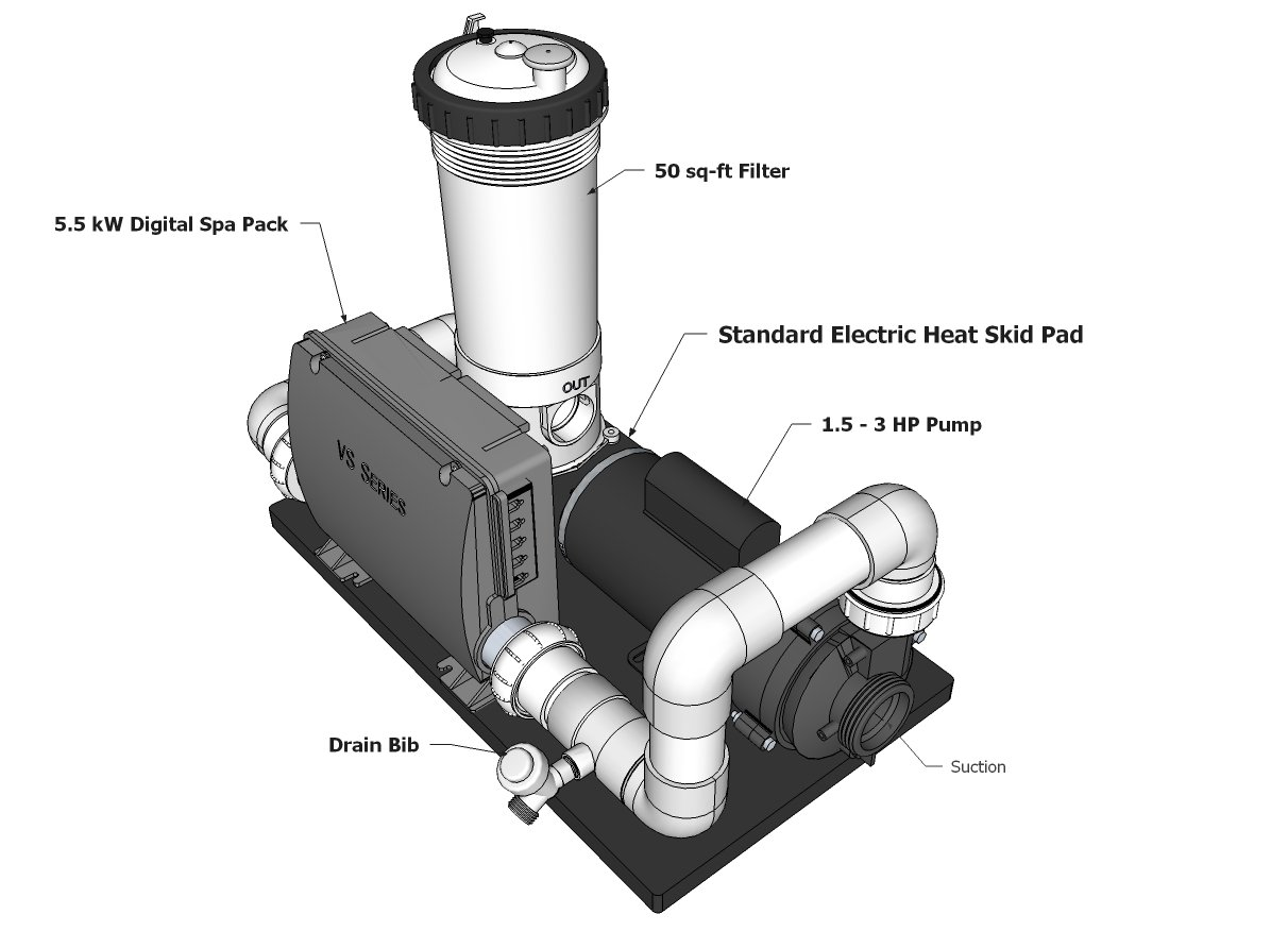 Balboa Complete Spa System With 15 Hp Pump And Filter Jacuzzi Hot Tub Wiring Diagram 50 Ft 120 Vac