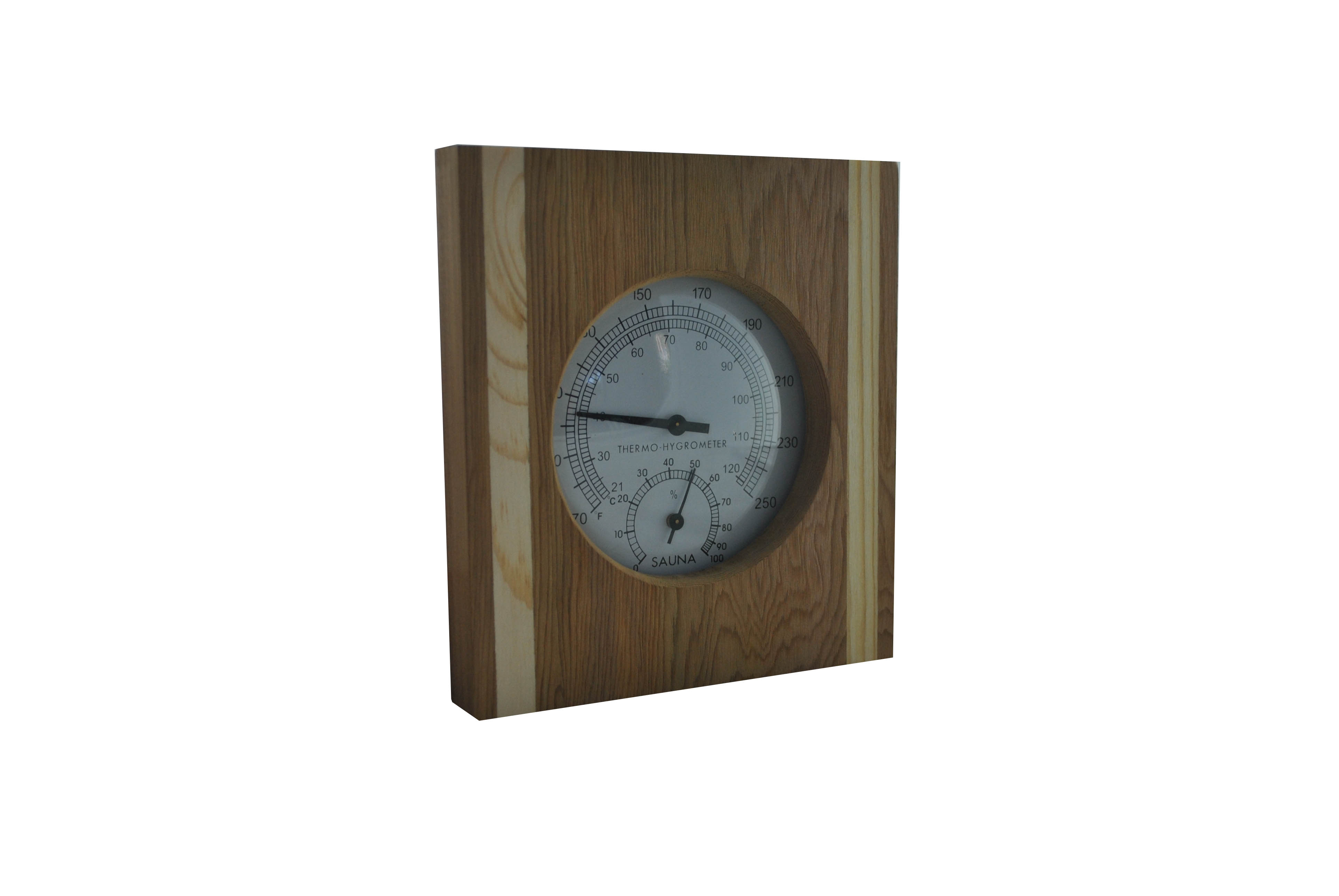 single sauna thermometer hygrometer with cedar and pine ebay. Black Bedroom Furniture Sets. Home Design Ideas