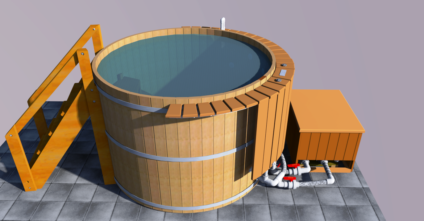 HydroTherapy tub with Wood Accesories