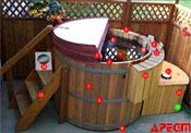 wood hot tubs
