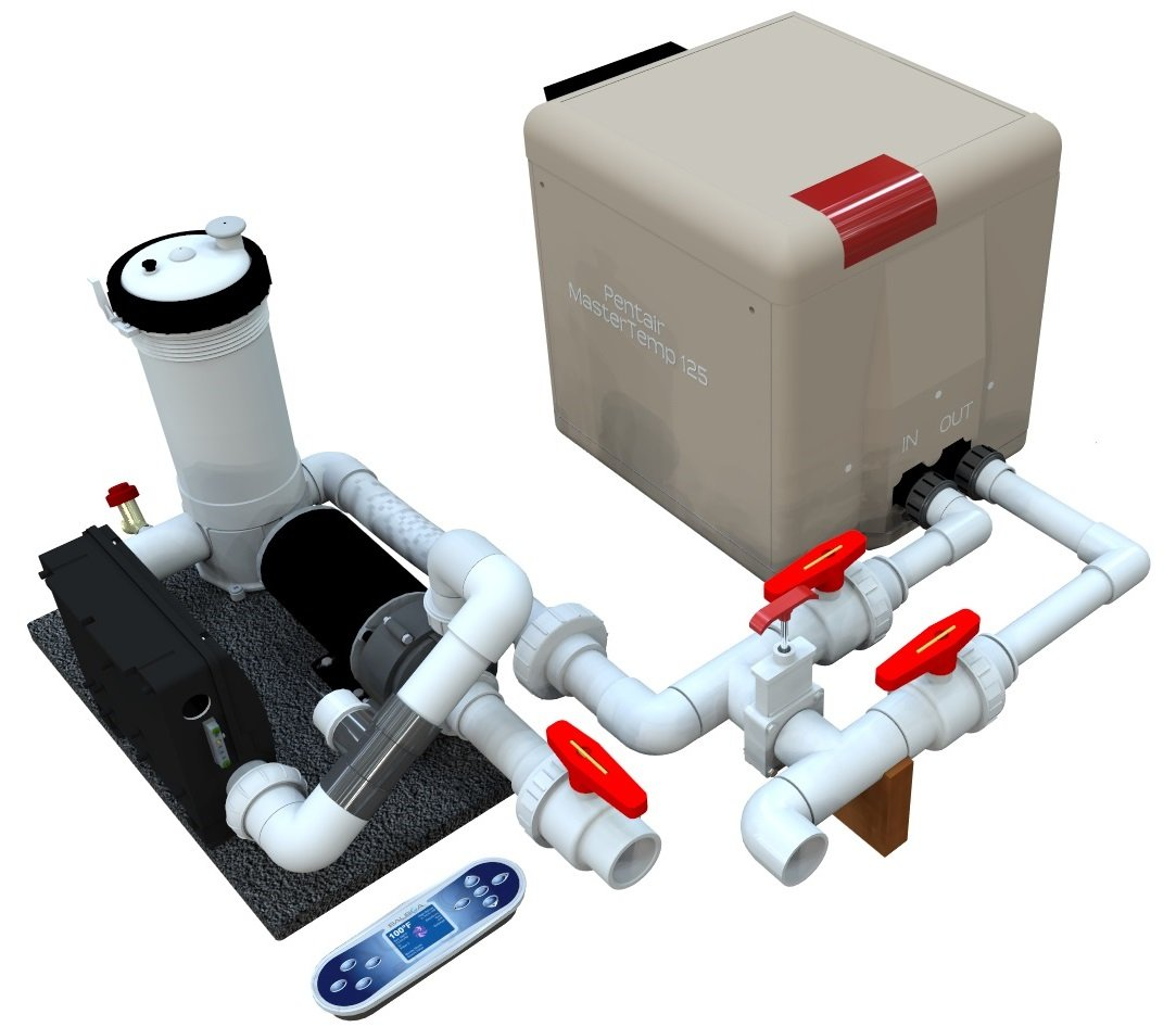 Hybrid Gas /Electric Heating System with 4-8 Jets