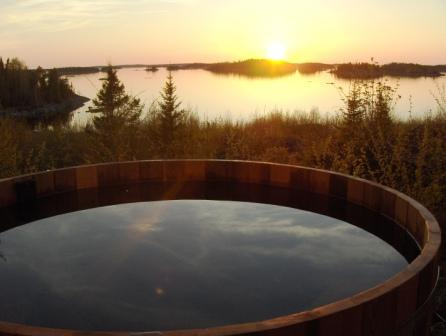 cedar hot tub on Elk Island