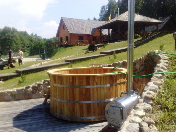 wood fired hot tub