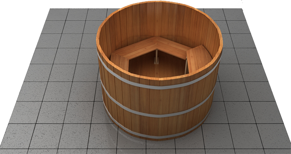 Wood Hot Tub 3-D Overviews