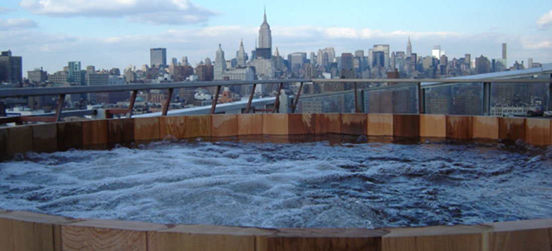 Rivington Hotel Manhattan Rooftop Spa Hot tub