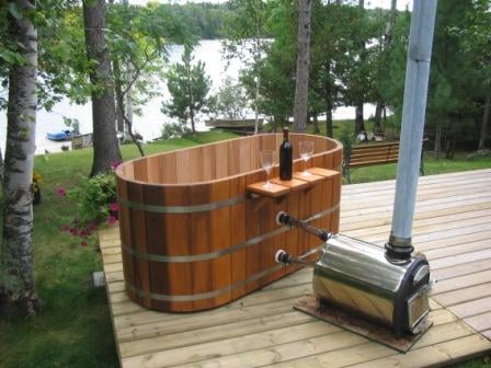 how to build a cedar barrel hot tub