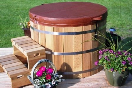 Indoor  Outdoor DIY Sauna Kits Cedar Barrel Saunas - Outdoor japanese soaking tub