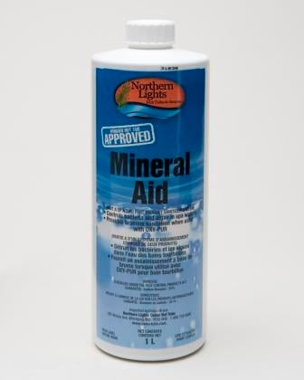 Mineral Aid hot tub sanitizer
