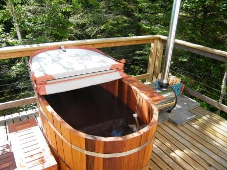Ofuro Japanese Soaking Hot Tub 2 Person Wooden Tub