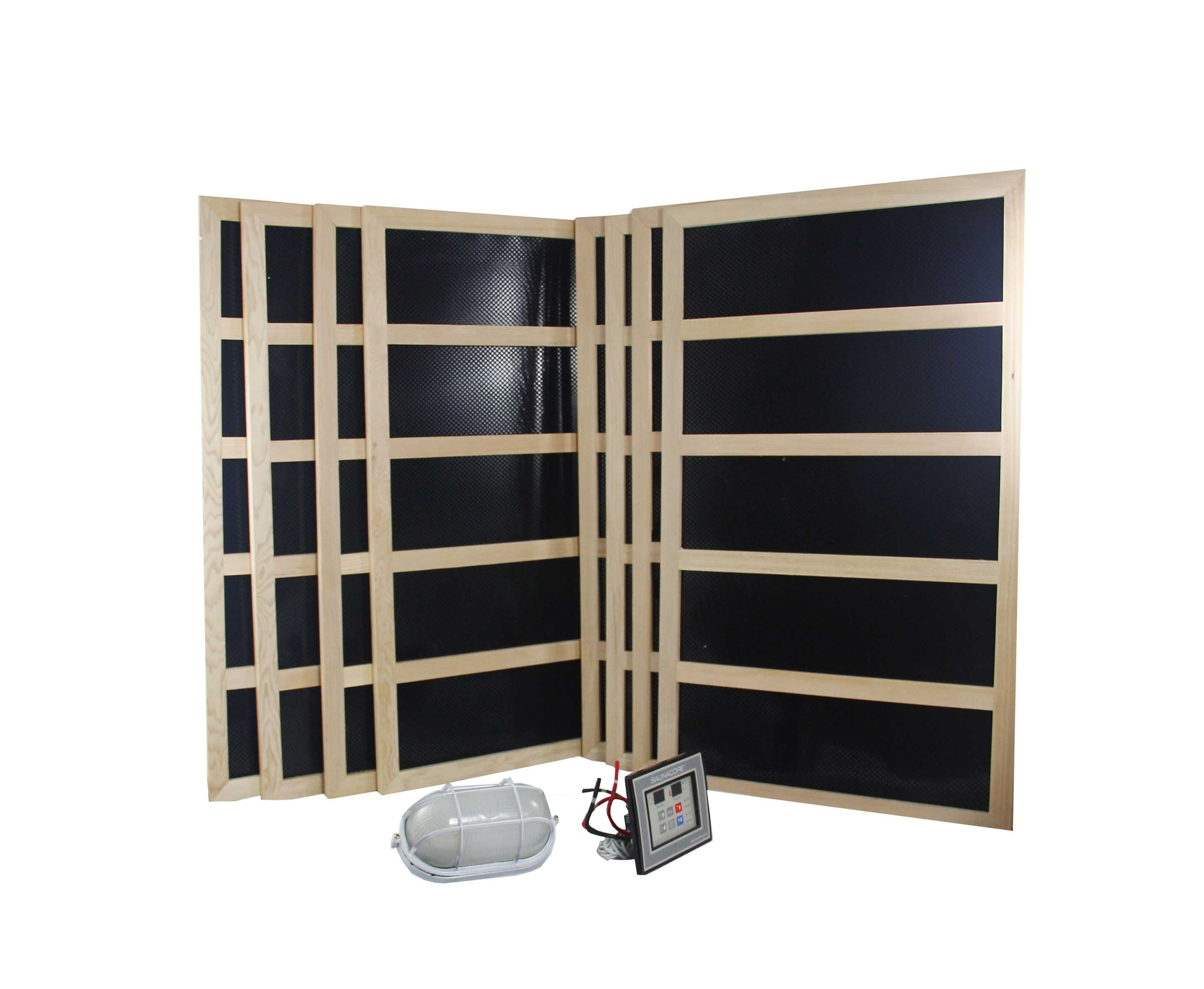 complete infrared sauna heater package 2400 watts. Black Bedroom Furniture Sets. Home Design Ideas