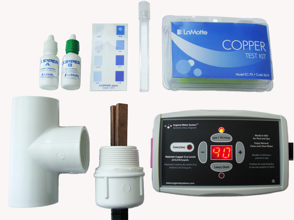 Argenia clear blue mineral spa hot tub ionizer a 850 ebay for Copper silver ionization system swimming pool