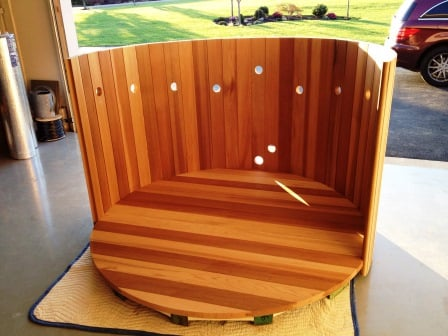 Wood hot tub kit