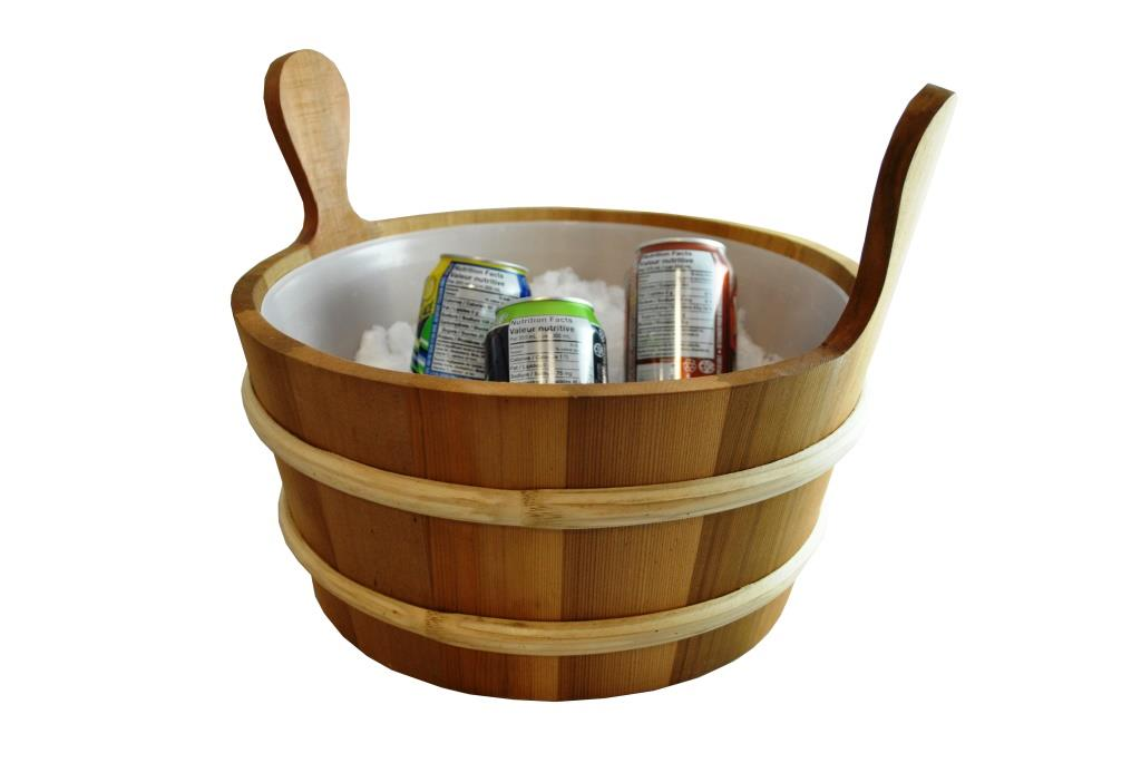 large cedar sauna bucket