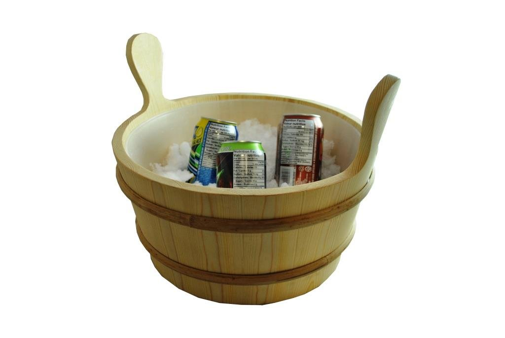 large pine sauna bucket