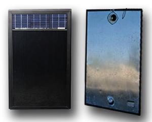 solar air collector with dual ports