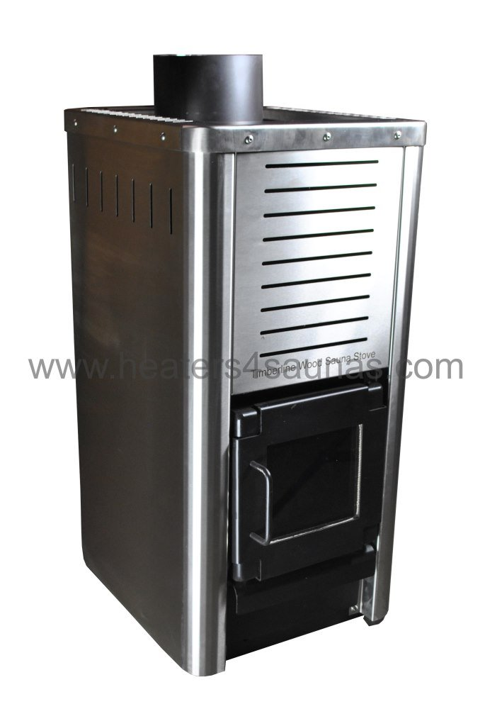 wood sauna stove side view - Timberline Wood Sauna Stove - Stainlesss Steel Sauna Heater